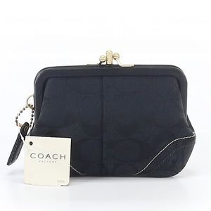 Coach Double Kiss Lock Coin / Wallet